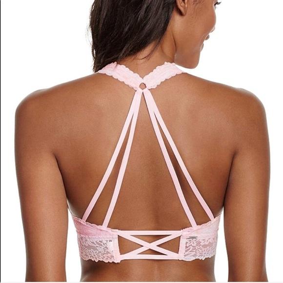 d2c1389f842c3 Victorias Secret PINK strappy back halter bralette